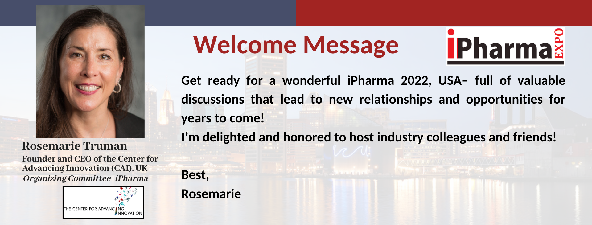 iPharma Conference Welcome Message